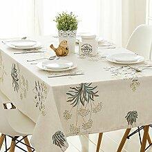 Pastoralwind Quadratische Tischdecke,Quadrat Quadratisches Tuch Einfaches Tischtuch,Mahagoni Tischmöbel Tischdecke-A 100x130cm(39x51inch)