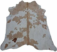 Patagonia Leather Rugs Kuhfell Teppich Beige/White
