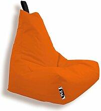 Patchhome Lounge Sessel XXL Gamer Sessel Sitzsack Sessel Sitzkissen In & Outdoor geeignet fertig befüllt | XXL - Orange - in 2 Größen und 25 Farben