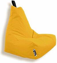 Patchhome Lounge Sessel XXL Gamer Sessel Sitzsack Sessel Sitzkissen In & Outdoor geeignet fertig befüllt | XXL - Gelb - in 2 Größen und 25 Farben