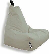 Patchhome Lounge Sessel XXL Gamer Sessel Sitzsack Sessel Sitzkissen In & Outdoor geeignet fertig befüllt - Beige - in 25 Farben