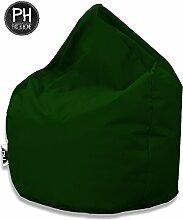 Patchhome Sitzsack Tropfenform Dunkelgrün für In