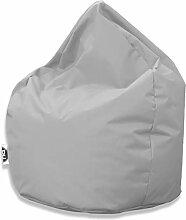 Patchhome Sitzsack Tropfenform - Grau für In &