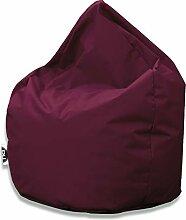 Patchhome Sitzsack Tropfenform - Weinrot für In &