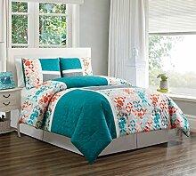 Patchwork-Bettwäsche-Set für Doppelbett,
