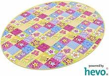 Patchwork HEVO® Kinderteppich | Spielteppich 125x195 cm Ellipse