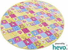 Patchwork HEVO® Kinderteppich | Spielteppich 160 cm Ø Rund