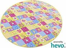 Patchwork HEVO® Kinderteppich | Spielteppich 200 cm Ø Rund