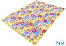 Patchwork HEVO® Kinderteppich | Spielteppich 200x400 cm
