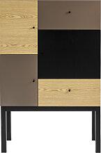 Patchwork - Highboard - Braun/Bronze