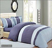 Patchwork Streifen Tagesdecke Bettüberwurf