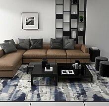 Paterson Collection Grau Zeitgenössische marokkanische Trellis Design Gitter Bereich Teppich , blue , 40*60cm