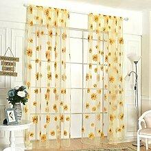 Patgoal Sonnenblumen-Schal, durchscheinend, Voile,