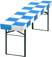 patide - die Papiertischdecke für Ihr ganz besonderes Event, Design: Schachbrett weiss/blau