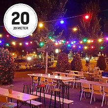 Patio 20m Lichterkette Bunt inkl.LEDs