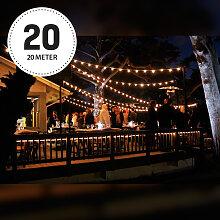 Patio 20m Lichterkette Warmweiß inkl. LEDs