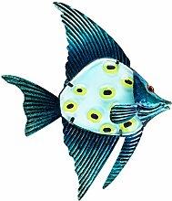 Patio Eden - Metall Fisch Wandkunst - 32 cm - Dekoration Terrasse - Indoor oder Outdoor hängenden Strand Dekor