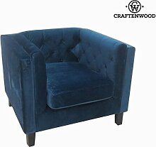 Patmos sessel ein sitz blau by Craftenwood
