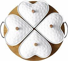 PATRICK Mit 4 Schalen aus weißem Porzellan und