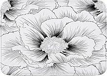 PatrickOgden Badematte Bad Teppiche, Blumenkontur