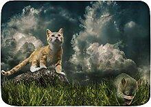 PatrickOgden Badematte Bad Teppiche, Die Katze