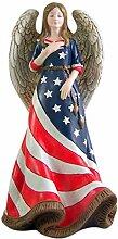 Patriotic Angel Decor Statue Engel in
