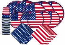 Patriotische amerikanische Flagge Party Papier