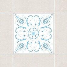 Pattern Design GmbH Fliesen Aufkleber–Bandana Weiß Licht Blau 10cm x 10cm, Set Größe: 20Stück