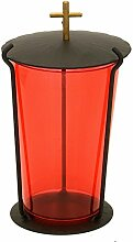 Paul Jansen Grablampe aus Stahlblech mit rotem