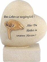 Paul Jansen Herz auf Sockel Calla Grabdekoration,