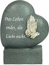 Paul Jansen Herz zur Dekoration mit betenden Händen und Text, anthrazit / schwarz