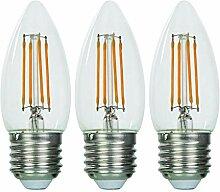 Paul Russells LED-Leuchtmittel, 4 W, Kerzenform,