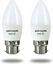 Paul Russells LED-Leuchtmittel, 7 W, Kerzenform,