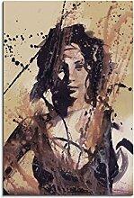 Paul Sinus Art Christy_Turlington_90x60-SA Wandbild Leinwand, 90 x 50 x 3 cm, mehrfarbig