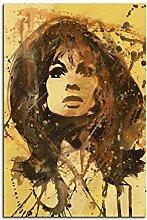 Paul Sinus Art Jean_Shrimpton_90x60-SA Wandbild Leinwand, 90 x 50 x 3 cm, mehrfarbig