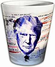 Paul Sinus Art Keramik Trump Tasse - Handarbeit