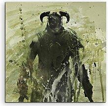 Paul Sinus Art The_Elder_Scrolls_V_Skyrim_60x60-SA Wandbild Leinwand, 90 x 50 x 3 cm, mehrfarbig