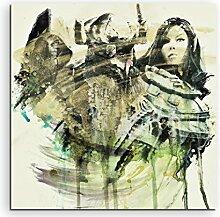 Paul Sinus Art The_Elder_Scrolls_V_Skyrim_Game_60x60-SA Wandbild Leinwand, 90 x 50 x 3 cm, mehrfarbig