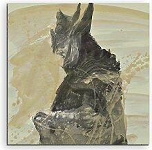Paul Sinus Art The_Elder_Scrolls_V_Skyrim_II_60x60-SA Wandbild Leinwand, 90 x 50 x 3 cm, mehrfarbig