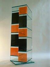Paul Snajdar Glasregal JANUS 95 cm drehbar CD-Turm