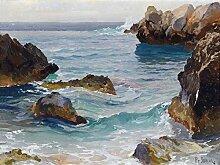 Paul von Spaun Fliesenbild, Motiv: Meeresfelsen,