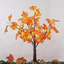 Paul03Daisy Beleuchtete Tabletop Fall Ahorn Baum