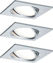 Paulmann LED Einbaustrahler Nova Plus eckig 3x6,8W