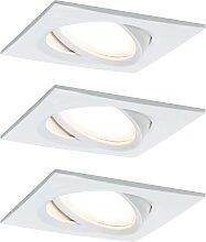 Paulmann,LED Einbaustrahler Nova Plus eckig 3x6,8W