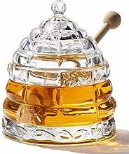 Paulsway Kristall-Bienenstock-Honigglas mit 2