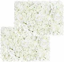Pauwer Wandpaneele mit künstlichen Blumen, 40,6 x