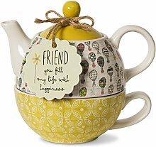Pavilion Gift Company Freund Keramik Teekanne und