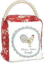Pavilion Gift Company Live Simply–Live, Laugh, Love Henne rot floral Tür Stopper, Floral