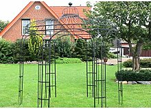 Pavillon 250xH298 cm rund, schwarz