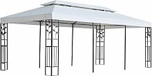 Pavillon 3 x 6 m Weiß VD18991 - Hommoo